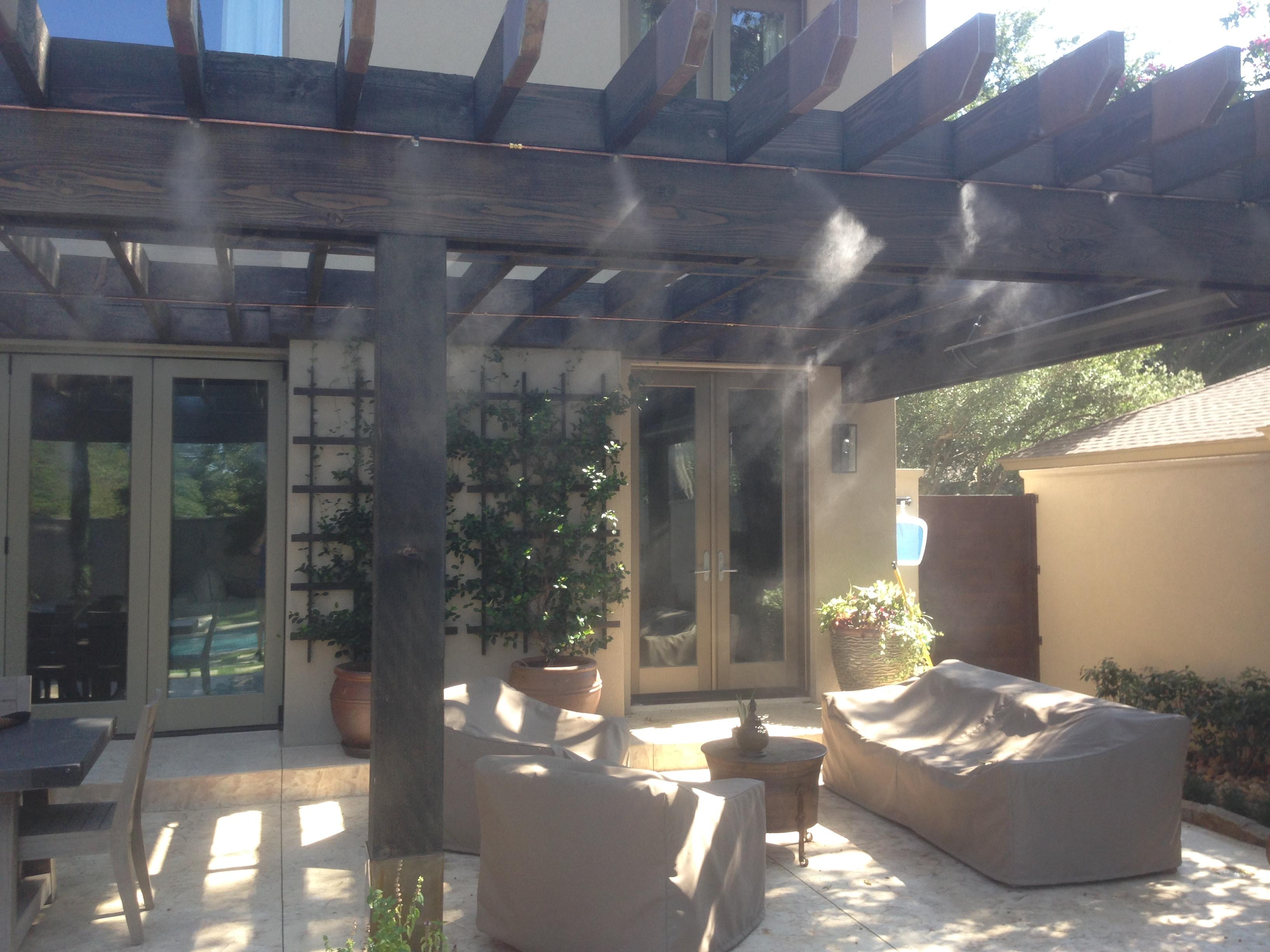 Outdoor Misting System : Outdoor misting system installation in dallas fort worth