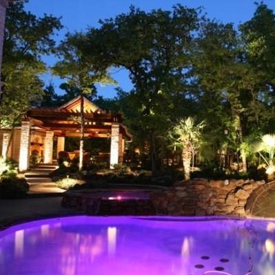 purple pool lighting