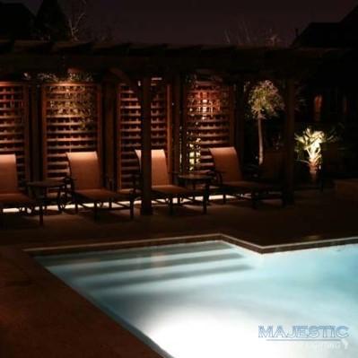 White pool lighting