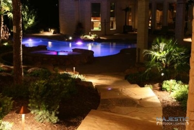 Arbors Water Feature Lighting In Dallas TX Fort Worth TX