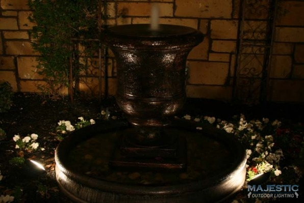 Arbors Water Feature Lighting In Dallas Fort Worth